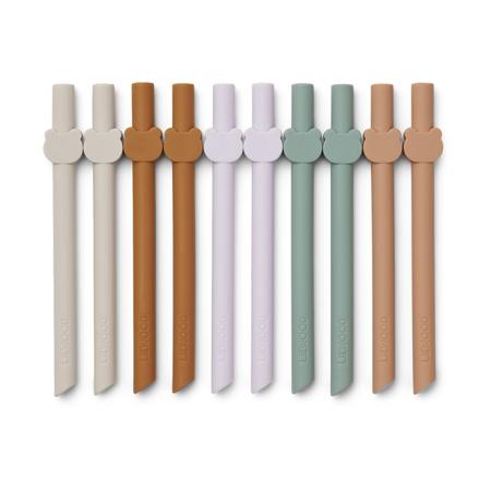 Slika Liewood® Silikonske slamice Badu Multi Mix 10 kosov