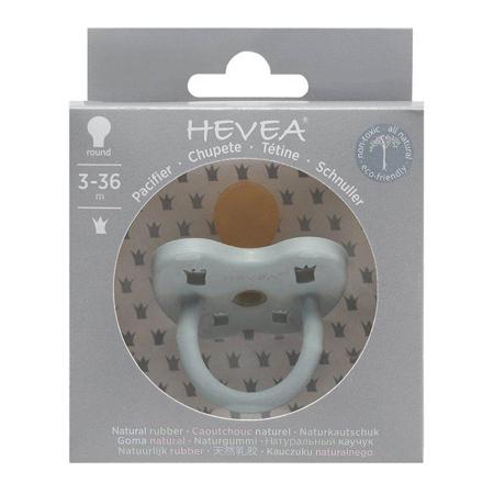 Slika Hevea® Ortodontska duda iz kavčuka Colourful (3-36m) Gorgeous Grey