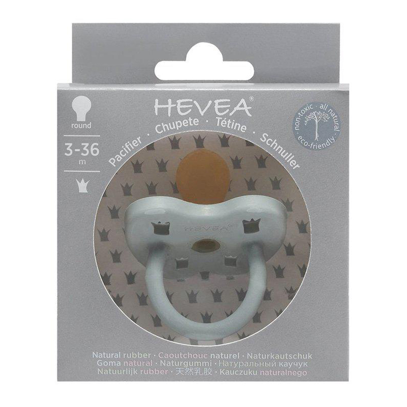 Hevea® Ortodontska duda iz kavčuka Colourful (3-36m) Gorgeous Grey