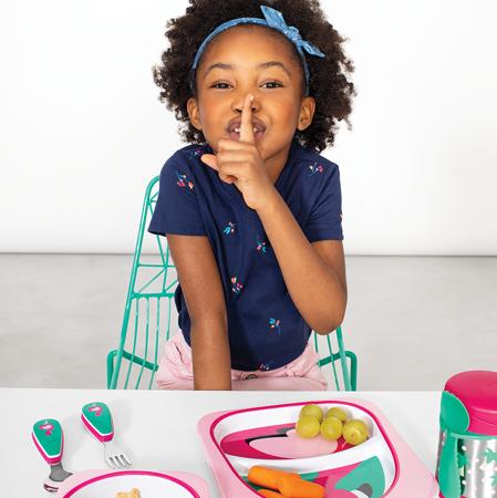 Skip Hop® Otroški jedilni pribor Flamingo