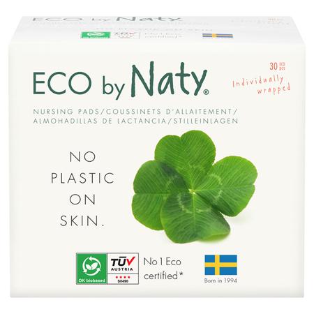 Slika Eco by Naty® Blazinice za dojenje 30 kosov
