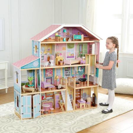 Slika KidKraft® Hiška za punčke Grand view Mansion z dodatki