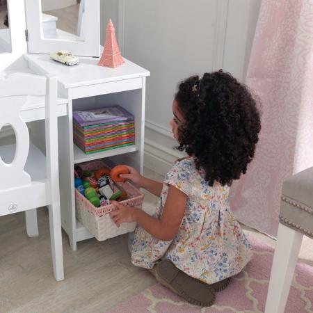 KidKraft® Otroška Make-Up mizica z ogledalom in stolček Deluxe Vanity