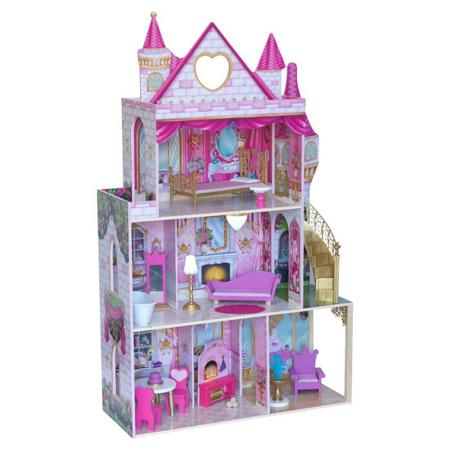 Slika KidKraft® Hiška za punčke Rose Garden Castle s pripomočki