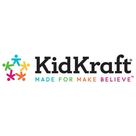 KidKraft® Lesena klop s predali Pastel