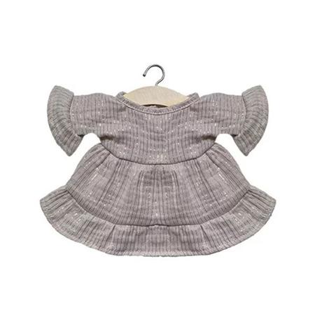 Slika Minikane® Obleka za punčke Lucia Lurex Beige 34cm
