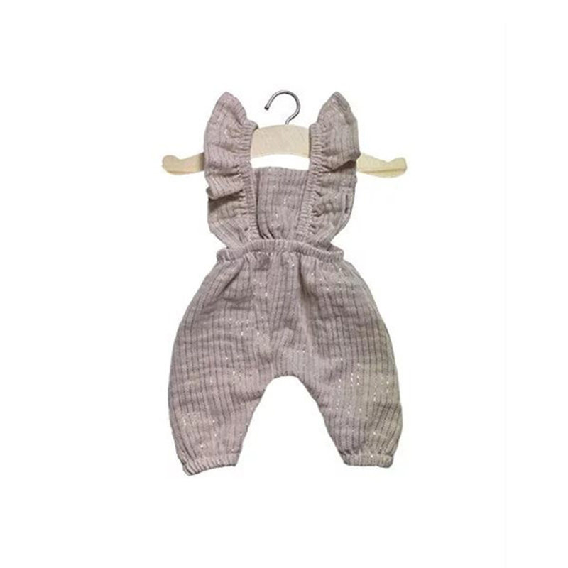 Minikane® Obleka za punčke Maya Lurex Beige 34cm
