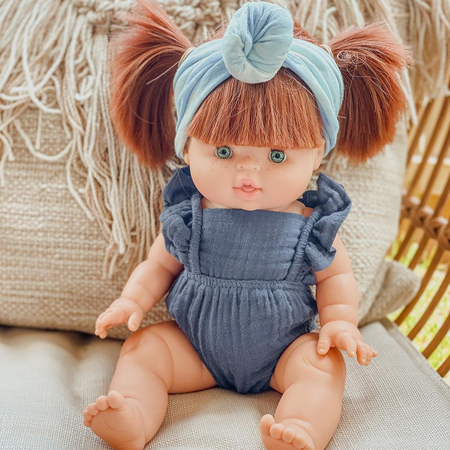 Minikane® Obleka za punčke Lou Moutarde 34cm