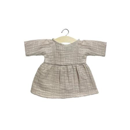 Minikane® Obleka za punčke Faustine Lurex Beige 32cm