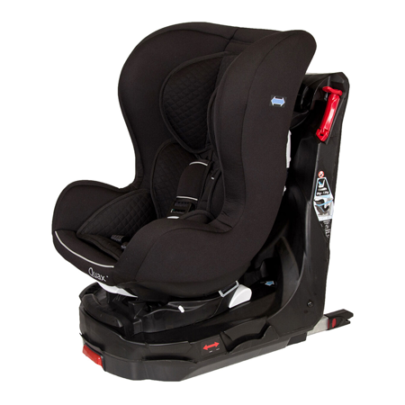 Quax® Avtosedež Easy Rider 360° Isofix  0+/1 (0-18 kg) Black