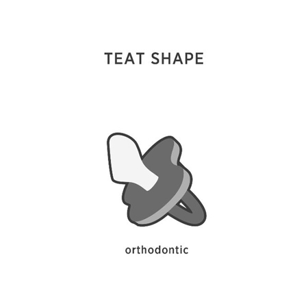 Hevea® Ortodontska duda iz kavčuka RAČKA (0-3m) Mellow Mint