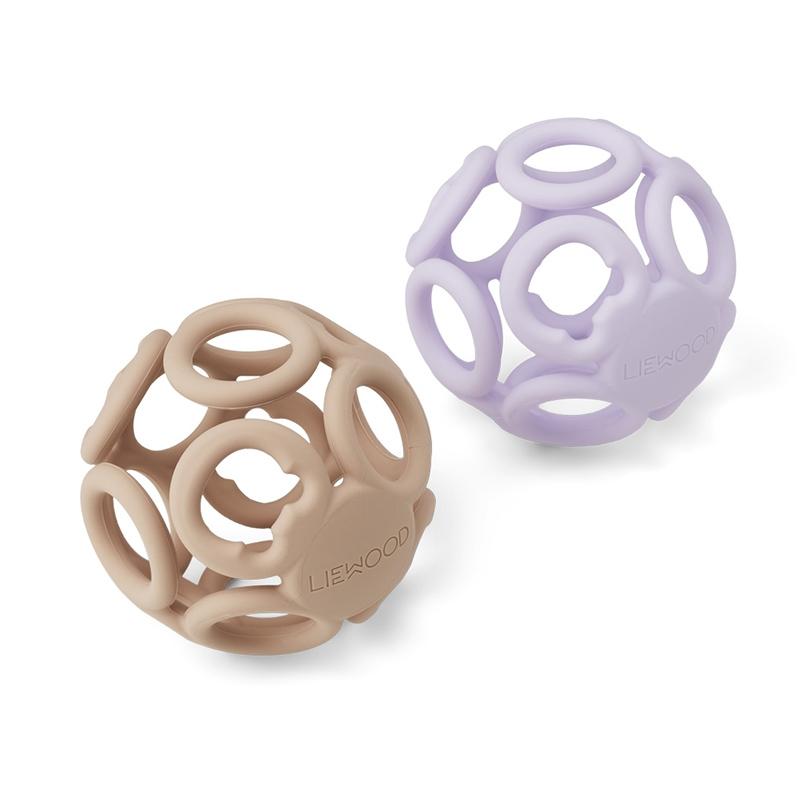 Liewood® Komplet dveh žogic Jasmin Light Lavender Rose Mix