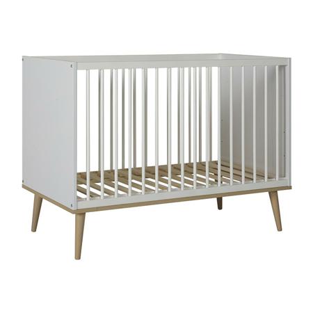 Quax® Otroška posteljica Flow 120x60 White & Oak