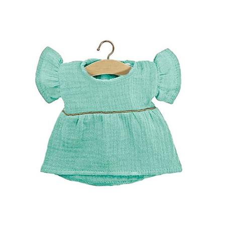 Minikane® Obleka za punčke Daisy Green Water Gold 34cm