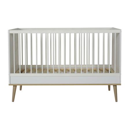 Slika Quax® Otroška posteljica Flow 140x70 White & Oak