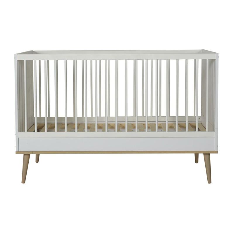 Quax® Otroška posteljica Flow 140x70 White & Oak