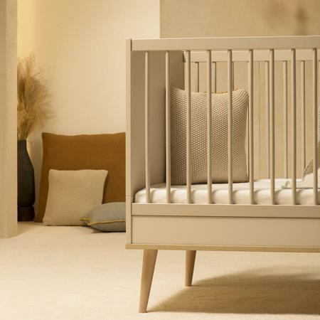 Quax® Otroška posteljica Flow 140x70 Clay & Oak
