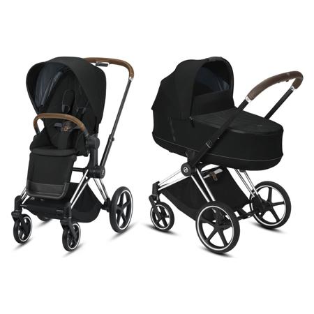Slika Cybex® Otroški voziček s košaro 2v1 Priam Chrome Brown (0-22 kg)