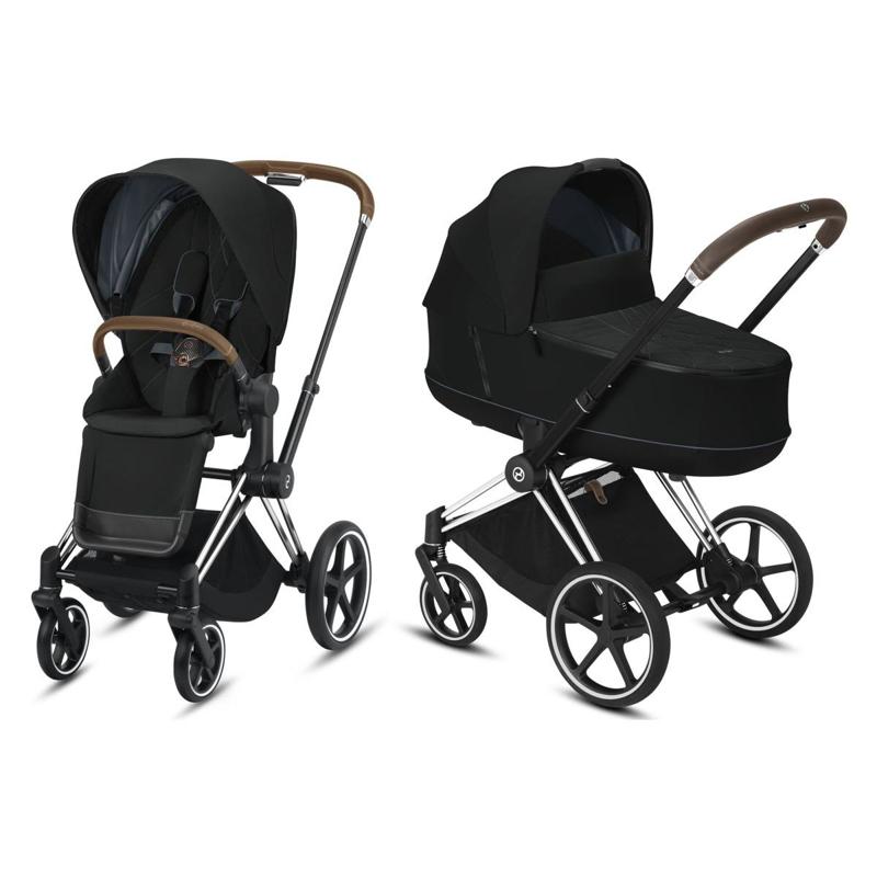 Cybex® Otroški voziček s košaro 2v1 Priam Chrome Brown (0-22 kg)