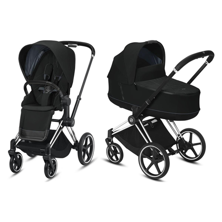 Slika Cybex® Otroški voziček s košaro 2v1 Priam Chrome Black (0-22 kg)