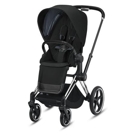 Cybex® Otroški voziček s košaro 2v1 Priam Chrome Black (0-22 kg)
