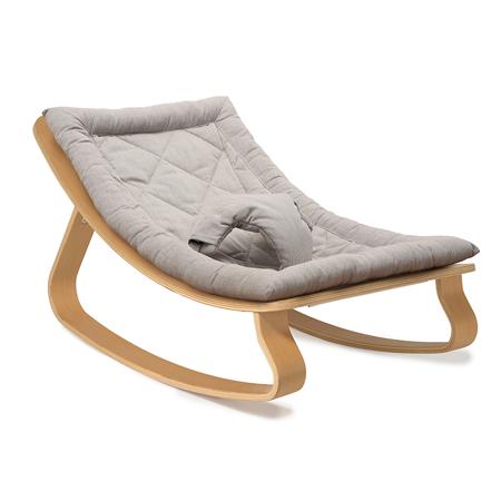 Slika Charlie Crane® Ležalnik in gugalnik za dojenčka LEVO Beech Sweet Grey