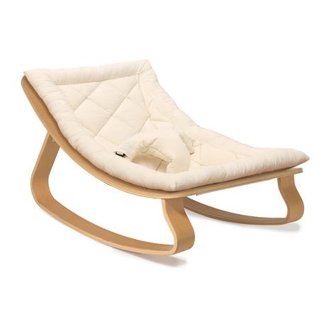 Slika Charlie Crane® Ležalnik in gugalnik za dojenčka LEVO Beech Organic Cotton