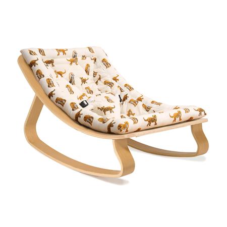 Slika Charlie Crane® Ležalnik in gugalnik za dojenčka LEVO Beech Jaguar