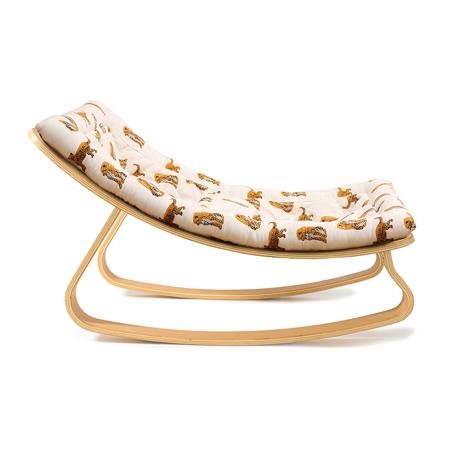 Charlie Crane® Ležalnik in gugalnik za dojenčka LEVO Beech Jaguar