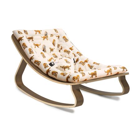 Slika Charlie Crane® Ležalnik in gugalnik za dojenčka LEVO Walnut Jaguar