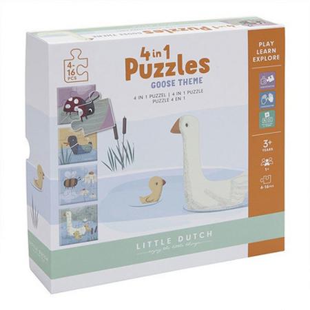 Little Dutch® Puzzle Little Goose 4v1