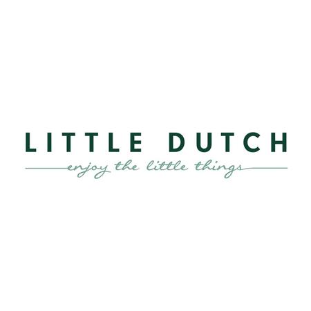Little Dutch® Otroška napenjalna rjuha Pure Blue  60x120