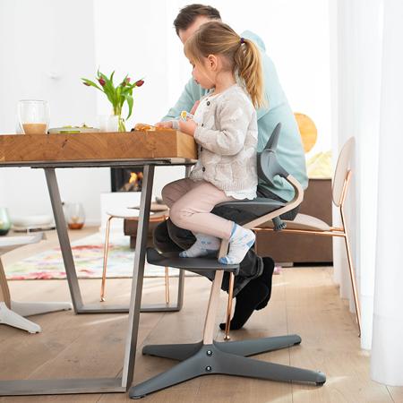 Nomi® Otroški stolček za hranjenje Standard White Oak/Black