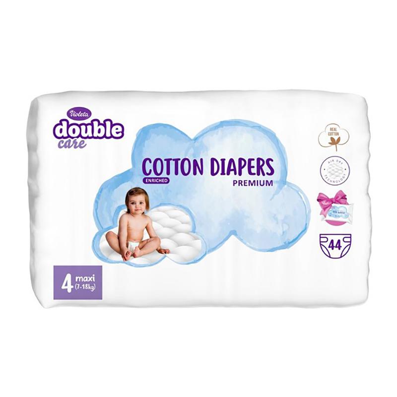 Violeta® Plenice Double Care Cotton Touch Maxi (7-18 kg) 44 kosov