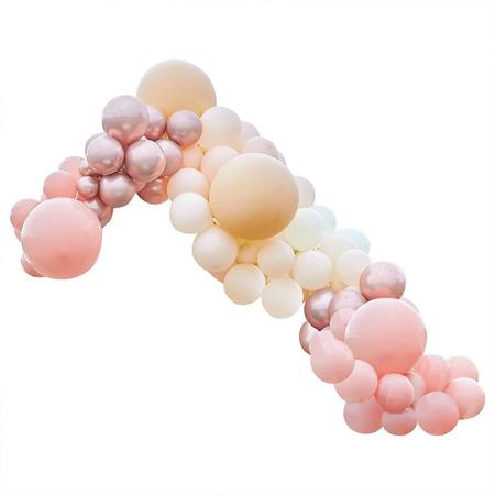 Ginger Ray® Lok iz balonov Luxe Peach, Nude & Rose Gold