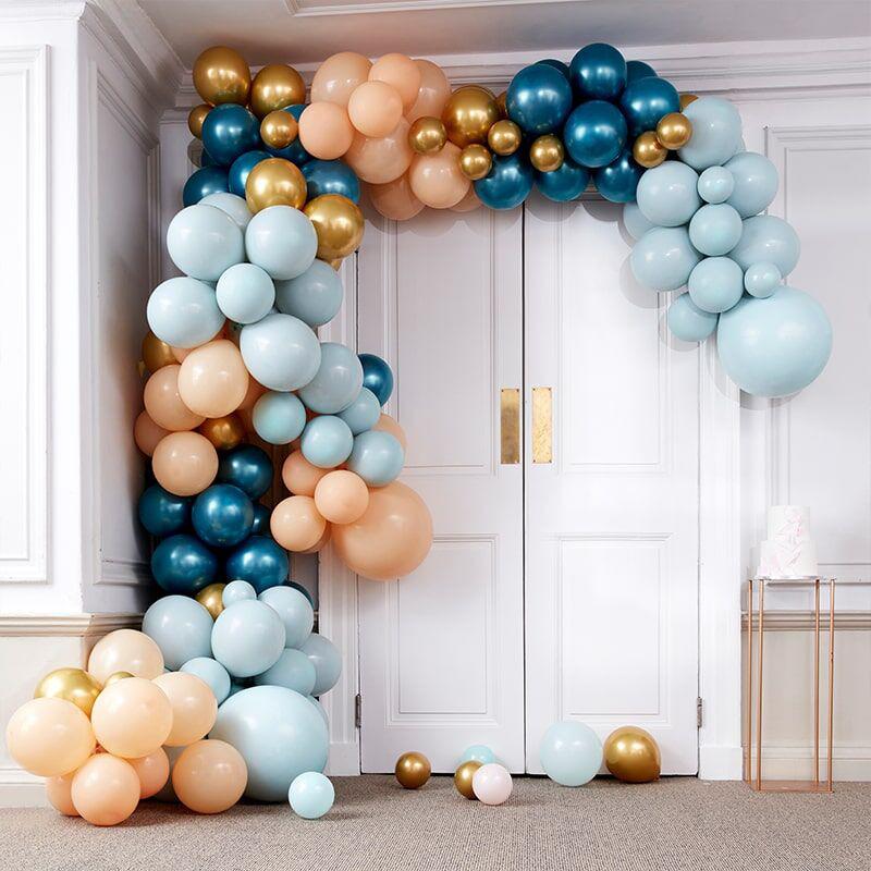 Ginger Ray® Lok iz balonov Luxe Teal & Gold Chrome