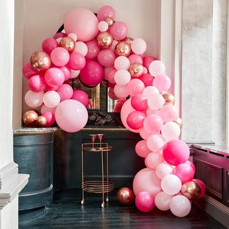 Ginger Ray® Lok iz balonov Luxe Pink & Rose Gold