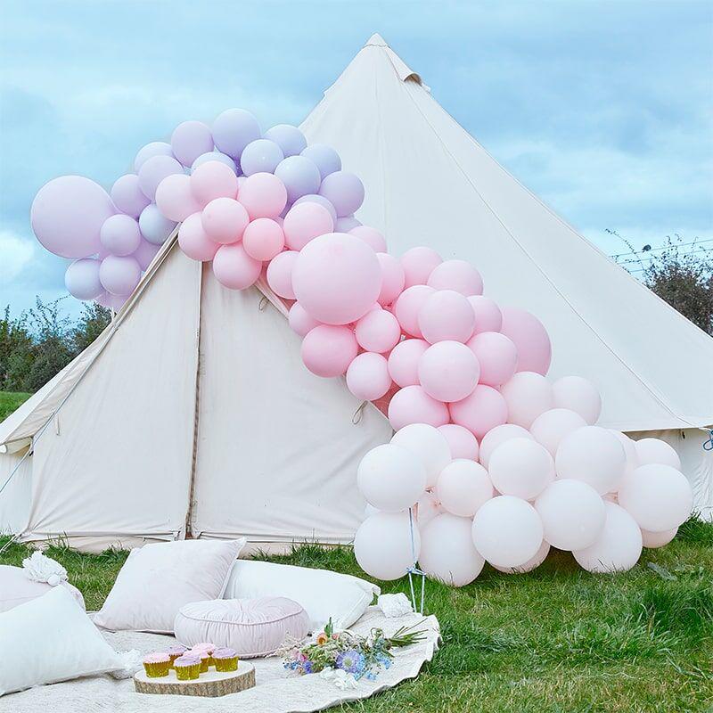 Ginger Ray® Lok iz balonov Luxe Pastel Pink & Purple