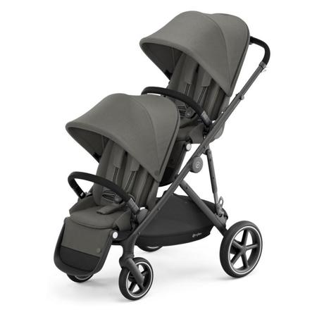 Slika Cybex® Otroški voziček za dvojčke Gazelle S BLK (2x sed. in 2x košara) Soho Grey