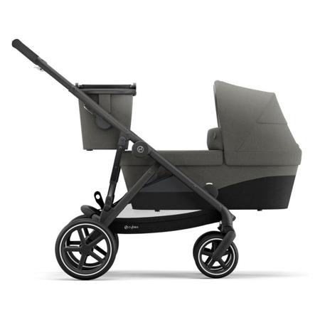 Cybex® Otroški voziček za dvojčke Gazelle S BLK (2x sed. in 2x košara) Soho Grey