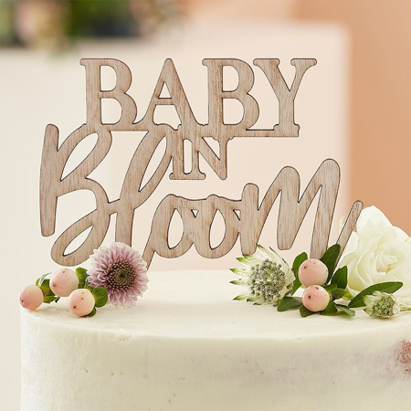 Slika Ginger Ray® Lesen okrasni napis za torto Baby in Bloom