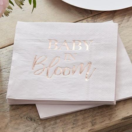 Slika Ginger Ray® Serviete Baby in Bloom 16 kosov