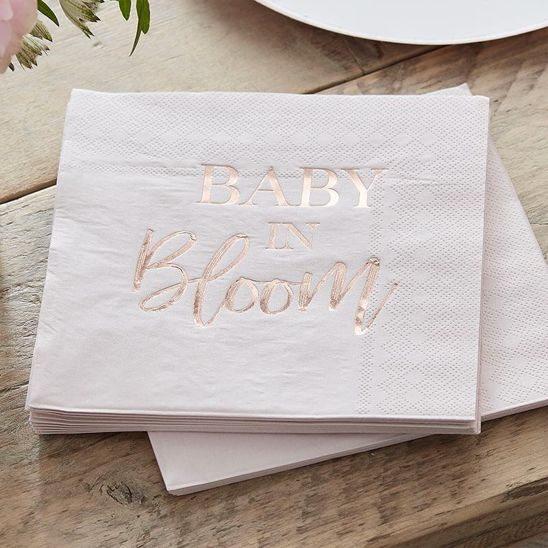 Ginger Ray® Serviete Baby in Bloom 16 kosov