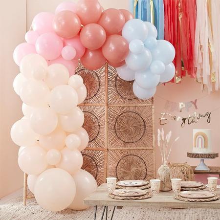 Slika Ginger Ray® Lok iz balonov Muted Pastel Rainbow