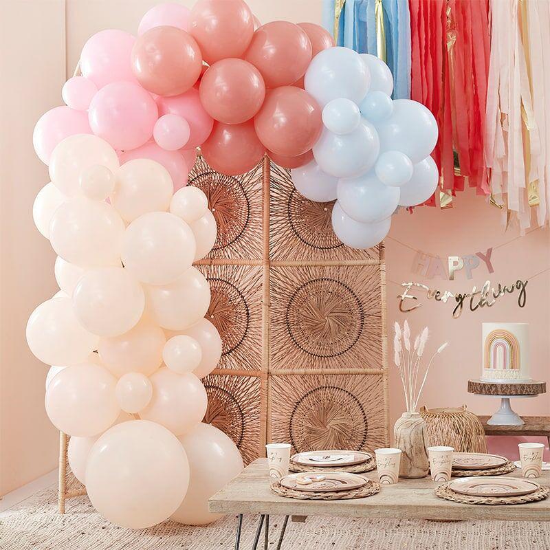 Ginger Ray® Lok iz balonov Muted Pastel Rainbow