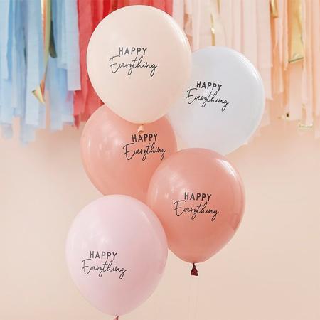 Slika Ginger Ray® Baloni Muted Pastel Happy Everything 5 kosov
