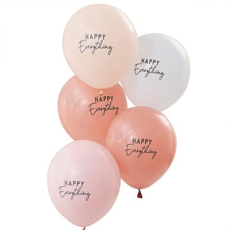 Ginger Ray® Baloni Muted Pastel Happy Everything 5 kosov