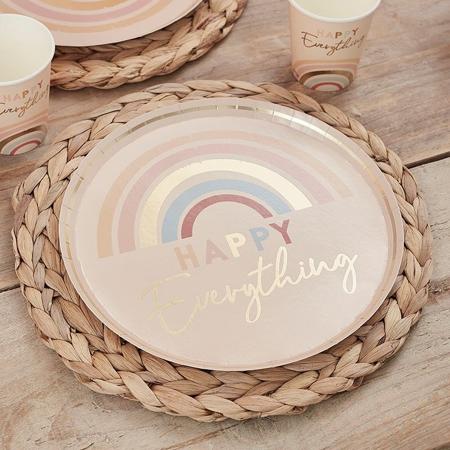 Slika Ginger Ray® Papirnati krožniki Happy Everything 8 kosov