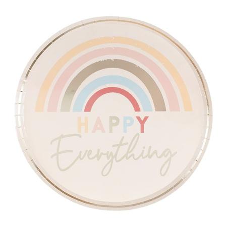 Ginger Ray® Papirnati krožniki Happy Everything 8 kosov
