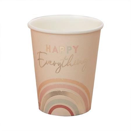 Ginger Ray® Papirnati kozarčki Happy Everything 8 kosov